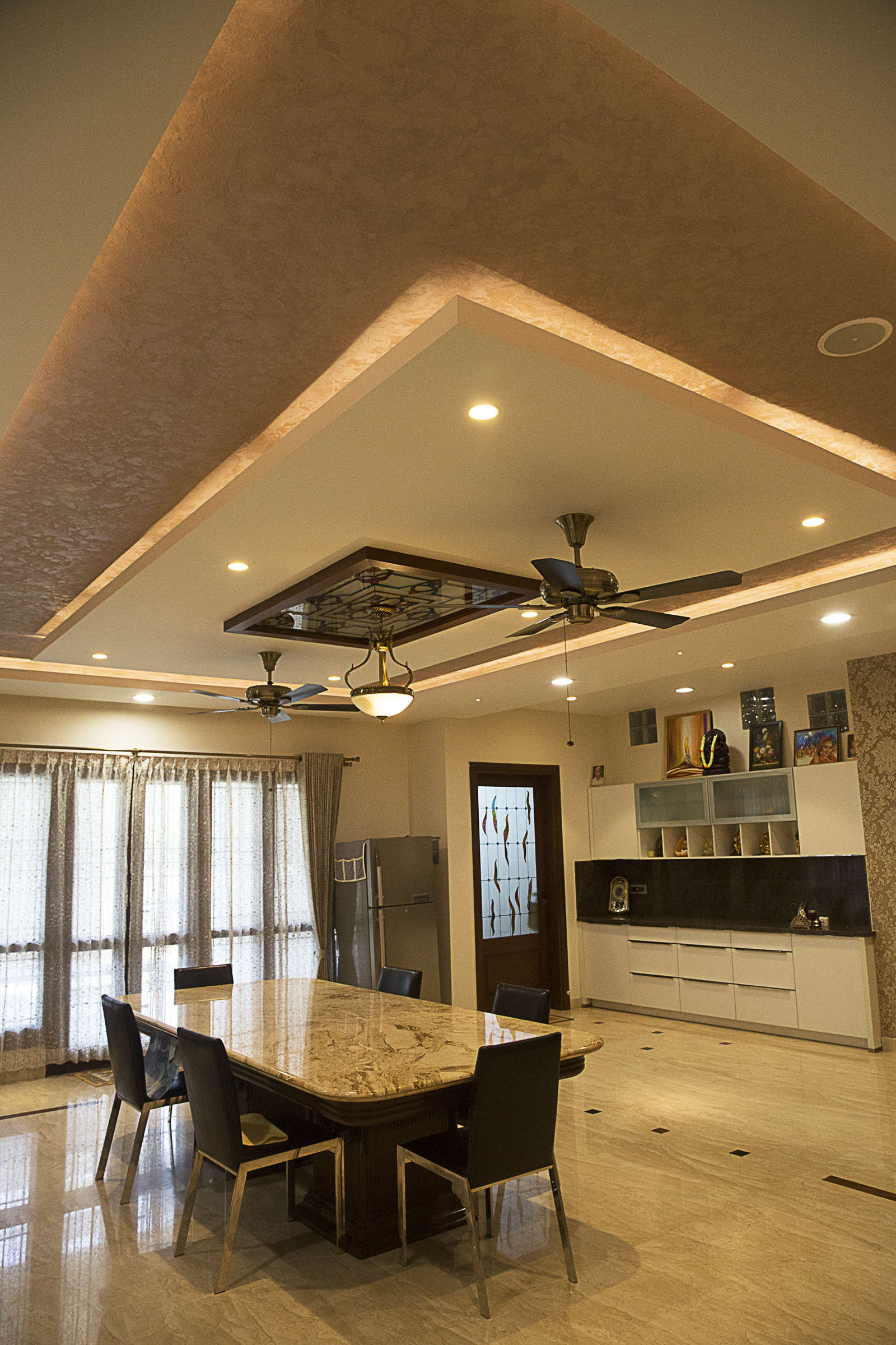 False Ceiling Designs For Living Room In Flats: Interior Designers In Bangalore